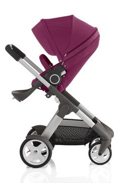 love this berry colored Stokke 'cruse' stroller http://rstyle.me/n/vvne9r9te