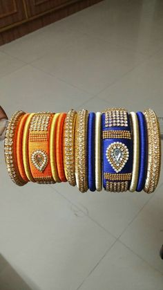wts up 9121010270 Silk Thread Bangles Design, Silk Thread Necklace, Silk Bangles, Beaded Necklace Patterns, Thread Jewellery, Paper Jewelry, Jewelry Patterns, Beaded Jewelry, Beaded Bracelets