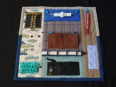 Busy Man Fidget Quilt  Tactile Fun and Hand by EndearingDignite