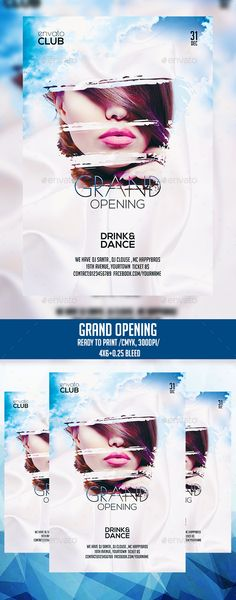Grand Opening Party Free Club Psd Flyer Template - Download Free