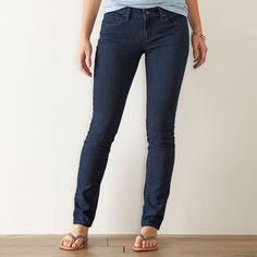 Women's SONOMA Goods for Life™ Faded Skinny Jeans, Size: 2 - regular, Dark Blue