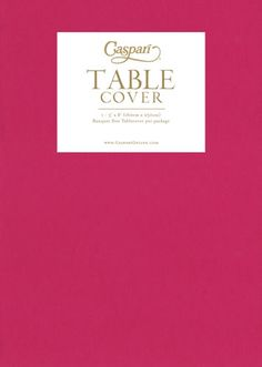 Spring Favorites at Casparionline.com: Paper Linen Fuchsia Solid Airlaid Tablecover ... It feels like Fabric!