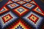"Lancaster County patchwork quilt, Optical Block ,69"" x 104"""
