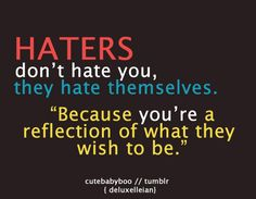 i dont know if i believe that because i hate people and 100% hell no dont want to be like  them bc they are home wreckers!