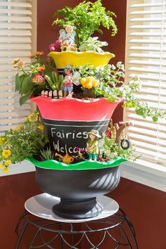Make an indoor fairy garden!! This project from our friends at Testors and Rust O Leum is a must-make! #FairyGarden #crafting