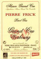 Domaine Pierre Frick Pinot Gris Grand Cru Vorbourg Vendanges Tardives 2008