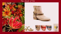 """Inspiratie voor het thema """"summer in the tropics"""" is opgedaan in Rio. Hier zie je bijpassende schoenen van Piedi Nudi, Gabor en Durea"""
