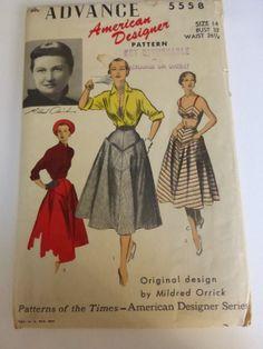 Vintage Advance Pattern 5558 American by VintagePatternDrawer, $14.95