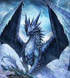 Frost Dragon by John-Stone-Art Fantasy Kunst, Dark Fantasy Art, Fantasy Artwork, Mythical Creatures Art, Magical Creatures, Fantasy Creatures, John Stones, Mythical Dragons, Legendary Dragons
