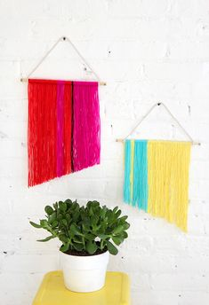 MY DIY   Mini Yarn Wall Hanging   I SPY DIY