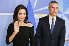 Angelina Jolie working with #NATO to #combat #sexual violence...