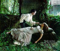 Sleeping beauty (natalie portman) - Annie leibovitz