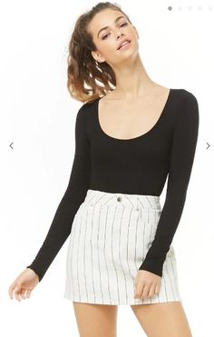 Forever 21 is the authority on fashion & the go-to retailer for the latest trends, styles & the hottest deals. Shop dresses, tops, tees, leggings & more! Ugly Sweater, Sweater Shop, New Dress, Short Dresses, Scoop Neck, Forever 21, Bodysuit, Fashion Outfits, Clothes For Women
