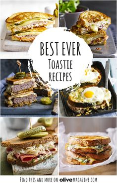 Stuffed with delicious fillings and oozing with cheese, the humble toastie is the ultimate quick comfort food, whether as a snack, lunch or speedy evening meal (Toasted Sandwich Recipes)