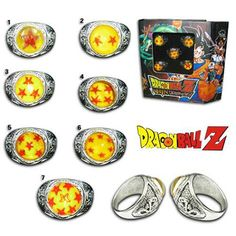 Dragon Ball Z rings Products Pinterest Rings Friends and