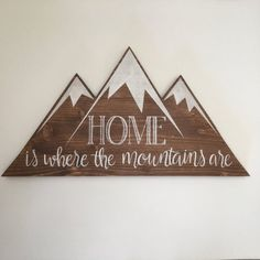 Wooden Wall Art Decor Mountain Wall Decor Cabin Sign Rustic Home Decor Lodge Sign Mountains Wood Sign Cabin Decor Gallery Wall Art