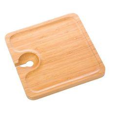 Crustaceans Designs - Bamboo Buffet Plate with wine glass holder, $8.00 http://www.crustaceansdesigns.com/bamboo-buffet-plate/)