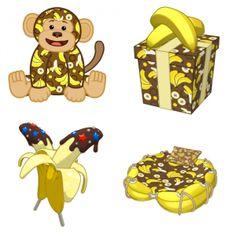 #Webkinz Banana Print Monkey Sneak Peek