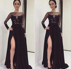 Resultado de imagem para vestido sereia preto