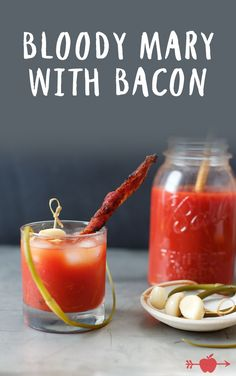 ... Bacon | Garnish this brunch classic with a spicy bacon swizzle stick