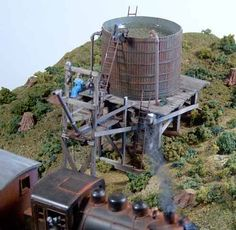 """Railroad Line Forums - The Gallery: Mar. """"Towers: Water, Coal & More"""" Ho Scale Train Layout, Ho Scale Trains, Model Train Layouts, Model Trains, Towers, Gallery, Water, Outdoor Decor, Water Water"""