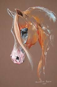 Chestnut Arabian Horse Art Print by Paulina Stasikowska All prints are professionally printed packaged and shipped within 3 - 4 business days Choose from multiple sizes and hundreds of frame and mat options Horse Drawings, Animal Drawings, Art Drawings, Horse Artwork, Pastel Art, Equine Art, Animal Paintings, Horse Paintings, Pastel Paintings