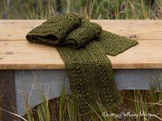 Wanderlust Men's crochet scarf or cowl pattern. Easy enough for beginners!