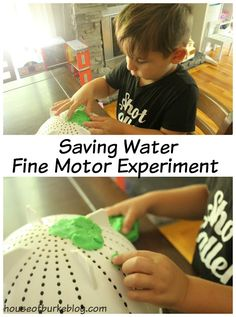 House of Burke: Saving Water Fine Motor Experiment Fine Motor Activities For Kids, Water Activities, Learning Resources, Kids Learning, Mother Goose Time, Put Things Into Perspective, Tot School, Sensory Bins, Save Water
