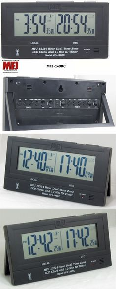 Other Radio Communication: Mfj-148Rc Dual Time Lcd Clock, Radio Controlled, Atomic With Gmt Zone, Id Timer BUY IT NOW ONLY: $58.45