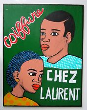 African barber shop sign - ref CCL $40 - Ebay