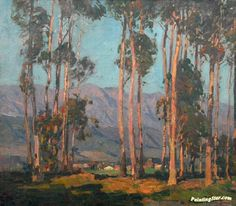California eucalyptus Artwork by Edgar Alwyn Payne Hand-painted and Art Prints on canvas for sale,you can custom the size and frame