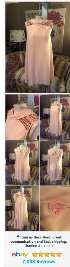 Ted Baker Pale Peach Chiffon Rhinestone Shoulder Dress Size 2 | eBay http://www.ebay.com/itm/Ted-Baker-Pale-Peach-Chiffon-Rhinestone-Shoulder-Dress-Size-2-/222557088787?ssPageName=STRK:MESE:IT