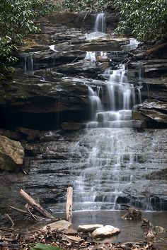 Sugar Run Falls - Ohiopyle State Park in southwestern Pennsylvania;  photo by pixquik, via Flickr