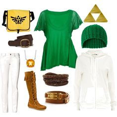 """""""Link"""" by powermetalprincess on Polyvore  Ok link has got to be the best character in the legend of zelda right so here is an outfit fitting for the heroine of time."""