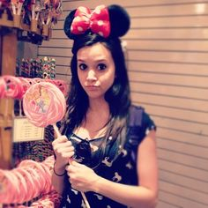 this looks like Kira lol. with Ashley's minnie mouse ears Megan Nicole, Dance Like No One Is Watching, Songs To Sing, Celebs, Celebrities, Youtubers, My Love, Pretty, Minnie Mouse