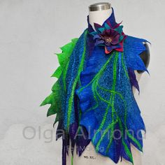 Christmas discount of 20%.Scarf.Felted scarf.Nuno by OlgaAlmond