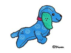 Karens Kravlenisser. Cut-outs and Colouring Pages. : Dogs Cut-outs to Print in Colours. Hunde klippeark til at printe i farver.
