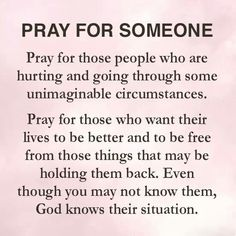Pray For Someone