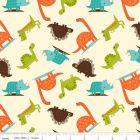 Dinosaur Toss Cream Cotton Lycra Knit Fabric by Riley Blake Dinosaur Fabric, Dinosaur Dinosaur, Textiles, Riley Blake, Baby Scrapbook, Fabulous Fabrics, Modern Fabric, Fabric Patterns, Baby Patterns