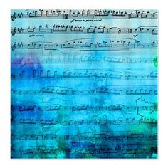 This design is called Blue Mood Music! Originally a watercolor painting, I like it even better with music!    This throw blanket is large