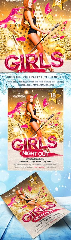 Girls Night Out — Photoshop PSD #fashion #girls • Available here → https://graphicriver.net/item/girls-night-out/13548193?ref=pxcr