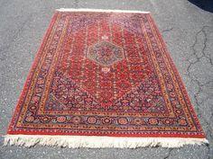 1980s Vintage, Hand-Knotted, Indo-Bijar Rug (3295) by carpetshopprincess on Etsy