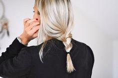 Short braid blonde hair!