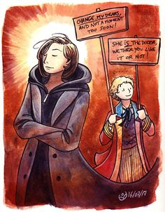 johannesviii:Based on Colin Baker's tweets about Thirteen, and colored by my enthusiasm.