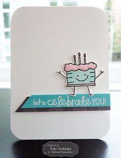LOVE THIS HAPPY LITTLE BIRTHDAY CAKE! Share Joy Challenge #28 - Let's Celebrate You by Handmade by Yuki | Party Pals by Taylored Expressions