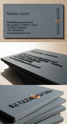 Unique thick raised business cards by Fabio Milito By
