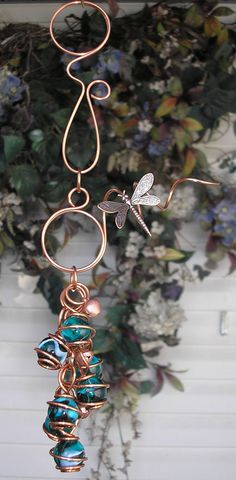 Dragonfly/Butterfly Wind Chimes  Copper & by DragonflyDreams1