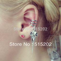 Aves crânio ear cuff brinco liga classe original LM-C220