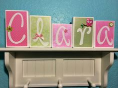 Personalized Name / Decorative Block Letters / by NicsLoveLetters, $30.00