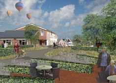 Design for the tea garden at Midgard by Vollmer & Partners. Midgard is a home and workplace for mentally disabled people